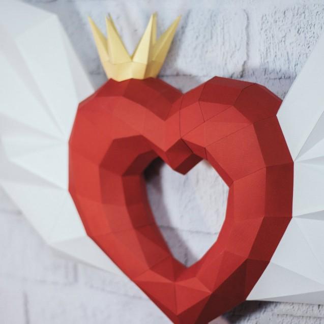 Паперкрафт-модель Ангельское сердце