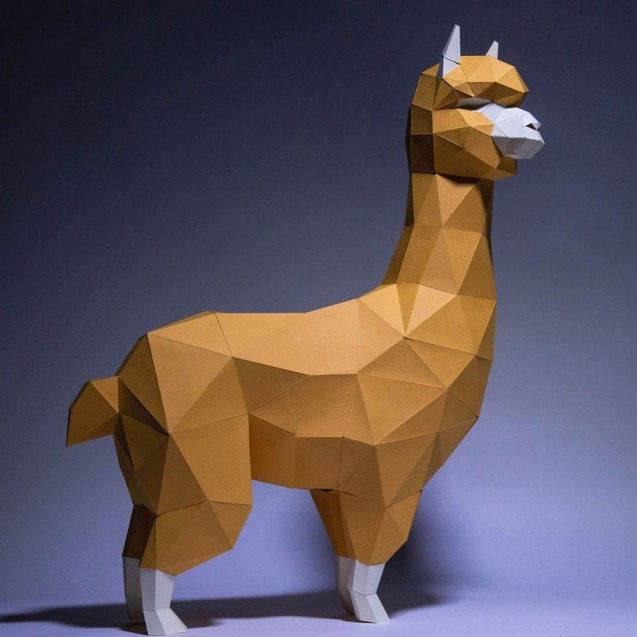 Паперкрафт-модель Альпака