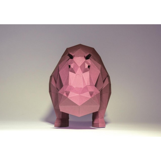Паперкрафт-модель Бегемот