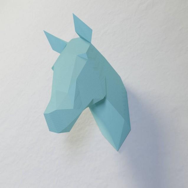 Паперкрафт-модель Голова Лошади