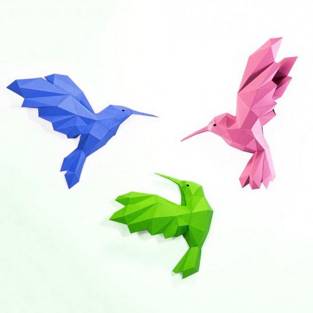 Паперкрафт-модель Колибри