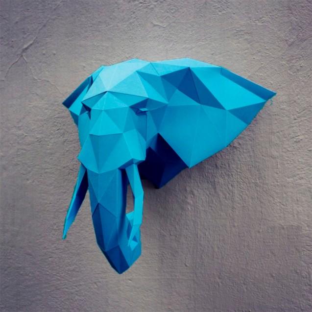 Паперкрафт-модель Слон
