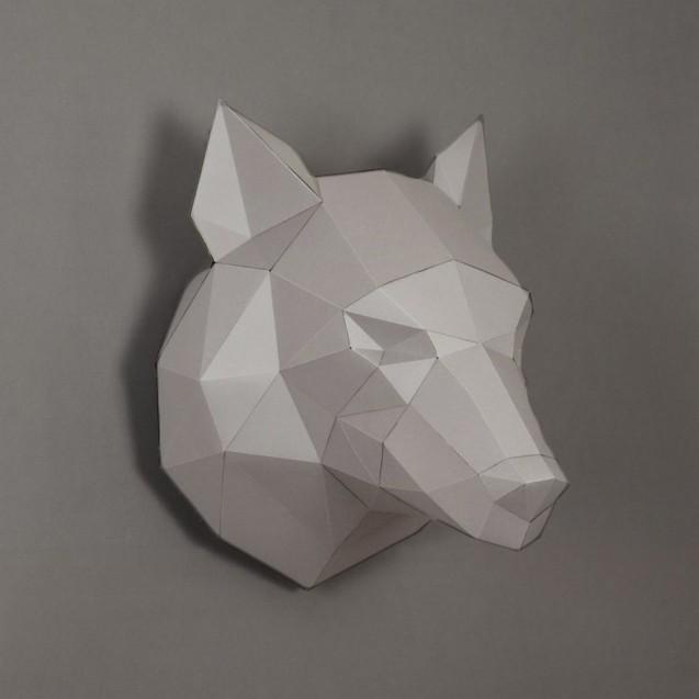 Паперкрафт-модель Волк